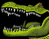 Alligator Drool Brewing Company label