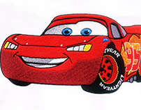 ELECTRIC CARS LIGHTNING MCQUEEN EMBROIDERY DESIGN