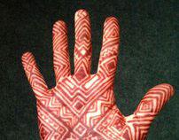 Polynesian henna design