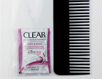 "Clear Soft & Shiny ""Soft Comb"""
