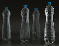 Design study of PET bottles for mineral water