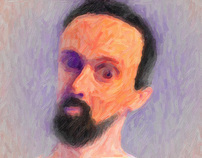 Self Portrait With A Violet Eye