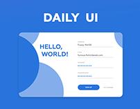 #DailyUI challenge - set 01