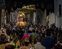 Catholic procession in Ardales, Spain