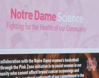 Notre Dame Science - PinkZone Brochure