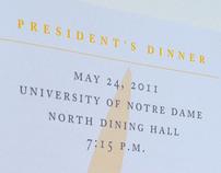 President's Dinner Program 2011