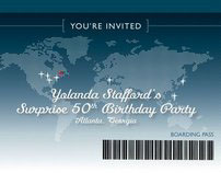 Boarding Pass-Style Invitation