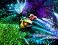Game environment concept art