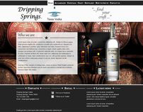 Redesign example of Dripping Springs Vodka Website