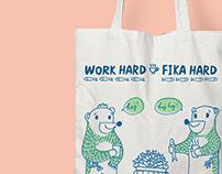Fikabear - Work Hard, Fika Hard!