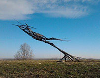 Metal sculptures - steel and iron