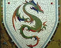 Medieval heraldry -  mosaic
