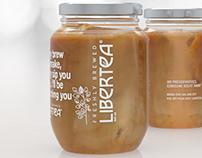 Libertea Milktea Logo and Packaging Design