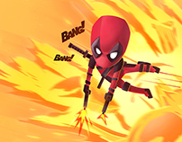 Jumping Deadpool