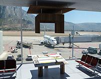 Occasional exhibition Palermo's airport (Kounellis)
