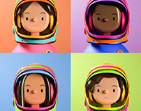 Women in Space Toy Face NFTs