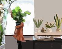 Plants, digital painting