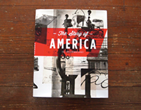 THE STORY OF AMERICA- text book redesign