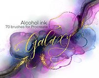 Galaxy Alcohol Ink BrushsetBy:Muffin Elfa Art