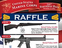 Marine Corps Birthday Raffle Flyer