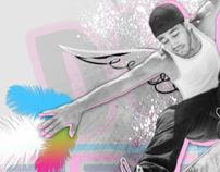 Skateboarding Encinitas - poster design skateboard