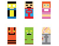 Minimalist Superheroes