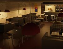 """Pomme & Raisins"" Wine Bar...3D Visualization"