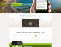 Prayy iPhone App website