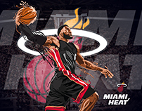 Poster LeBron James - Heat Miami