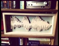 Sound wave Woodcut
