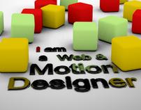 I am a web & motion designer