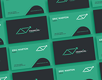 Free Financial Business Card Template
