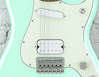 Fender Offset Series DUO-SONIC HS Render