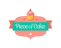 PIECE OF CAKE | Logo, biz cards, etc.