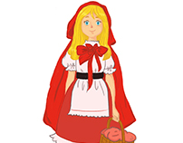 little red riding hood character design