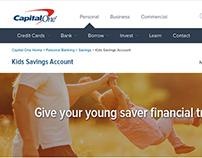 Capital One Kids Savings Account UI/UX