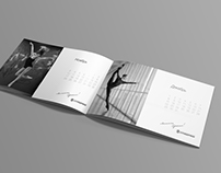 Corporate calendar and materials for industrial company