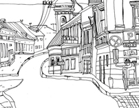 Vilnius, urban sketches