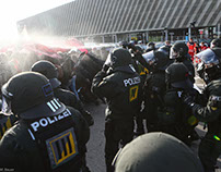 Blockaden um den Bundesparteitag der AFD in Stuttgart