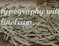 Tipografía con linóleo