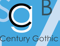 Century Gothic Font Poster