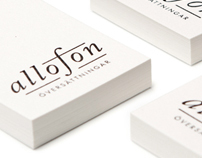 Allofon logo & business card design