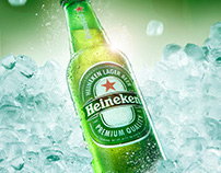 Beer photography and creative retouch for Heineken