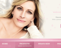 Pink Beauty Web Interface Designing