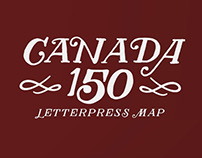 Map of Canada – Canada 150 Limited Edition Letterpress