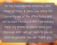 Voicemail greeting pics on behance law office voicemail greeting template m4hsunfo