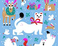 Christmas illustrations for Meitetsu Nagoya