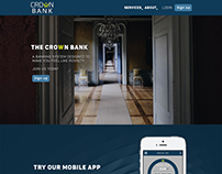 Crown Bank Homepage and App