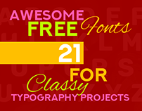 21 Awesome Free Fonts for Classy Typography Projects