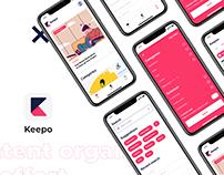 Keepo App - Interface Design